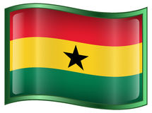Ghana Flag icon Royalty Free Stock Photo