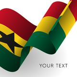 Ghana flag. Patriotic design. Vector illustration. Stock Photo