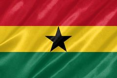 Ghana flaga ilustracji