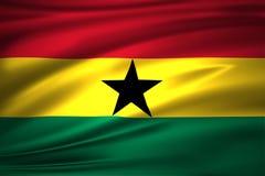 Ghana flaga ilustracja ilustracja wektor