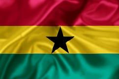 Ghana flaga ilustracja royalty ilustracja