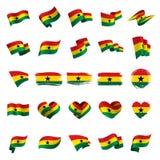 Ghana flaga, wektorowa ilustracja royalty ilustracja