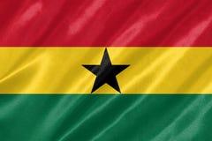 Ghana-Flagge stock abbildung