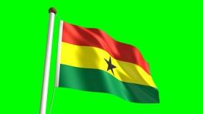 Ghana-Flagge stock footage