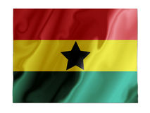 Ghana fluttering. Fluttering image of the Ghana national flag Royalty Free Stock Image