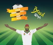 Ghana football fan Royalty Free Stock Photo