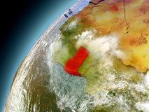 Ghana från omlopp av modellen Earth Royaltyfri Fotografi