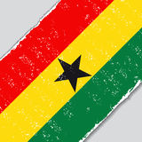 Ghana grunge flag. Vector illustration. Stock Photo