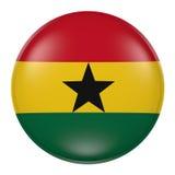 Ghana guzik na białym tle ilustracji