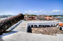 Ghana: Kanoner av den Elmina slottvärldsarvet, historia av Arkivbilder