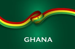 Ghana luxury style flag ribbon classic style Stock Image