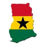 Ghana map flag Stock Photography