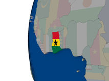 Ghana with national flag Stock Images