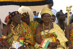 Ghana Royalty. March 6, 2007 - Rural chiefs join others dignitaries in Accra, Ghana, to mark the 50th anniversary of the country's independence from Britain at a Stock Images
