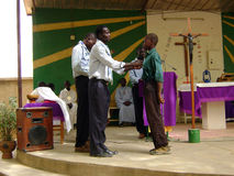 Ghana scouts ceremony. A religious ceremony of a group of Ghana scouts - Africa stock photography