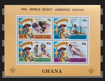 Ghana  1975 stamps. Stock Photography