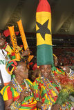 Ghana supporters. The African powerhouse Ghana  growth in confidence by beating Niger in the African cup by 3 goals to o.Their coach Kwesi appiah was overjoyed Royalty Free Stock Photo