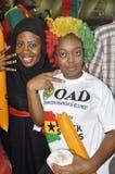 Ghana supportrar Arkivfoton