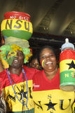 Ghana supportrar Royaltyfria Foton