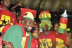 Ghana supportrar Arkivbild