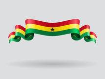 Ghana wavy flag. Vector illustration. Stock Photo