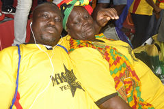 Ghana zwolennicy Zdjęcia Stock