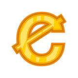 Ghanaian cedi icon, cartoon style Royalty Free Stock Image