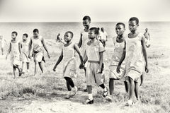 Ghanaian children wearing the same clothes Stock Image