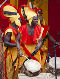 Ghanaian Drummers from Nkrabea Dance Ensemble. Stock Images