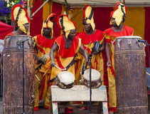 Ghanaian Drummers from Nkrabea Dance Ensemble. Royalty Free Stock Photography