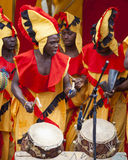 Ghanaian Drummers from Nkrabea Dance Ensemble. Royalty Free Stock Photos