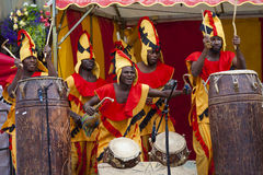 Ghanaian Drummers from Nkrabea Dance Ensemble. Royalty Free Stock Image