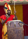 Ghanaian Drummers from Nkrabea Dance Ensemble. Stock Photo