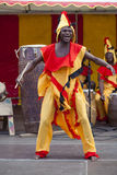 Ghanaian Drummers from Nkrabea Dance Ensemble. Royalty Free Stock Images