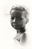 Ghanaian girl poses for the camera Royalty Free Stock Photos