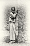 A Ghanaian girl poses near the tree Stock Image