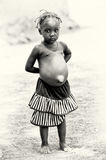 A Ghanaian girl in a skirt Royalty Free Stock Photo