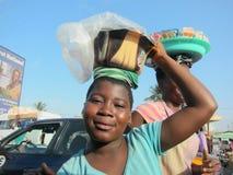 Ghanaian Girl Street Vendor Royalty Free Stock Photos