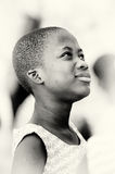Ghanaian girl with a thinking face Stock Images