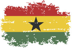Ghanaian grunge flag. Vector illustration. Stock Photos