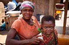 Ghanaian mother and son Stock Photos