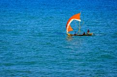 Ghanaian style sailing boat Stock Images