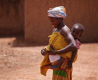 Ghanaian woman and son Royalty Free Stock Images