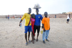 Ghanaians on the Beach for the May 1st, Labour Day Holiday Stock Images