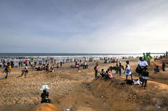 Ghanaians on the Beach for the May 1st, Labour Day Holiday Stock Photography