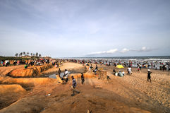 Ghanaians na praia para o 1º de maio, feriado do dia Labour Fotos de Stock