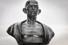 Ghandi bronze sculpture. Mahatma Ghandi bronze Statue to commemorate the greatest leader of human rights in the history of mankind , Quebec city, Canada Royalty Free Stock Images