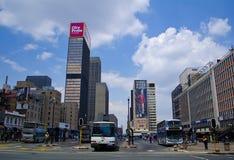 Ghandi Sqaure à Johannesburg Images libres de droits