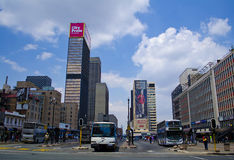 Ghandi Sqaure em Joanesburgo Imagens de Stock Royalty Free