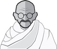 Ghandi Vector Royalty Free Stock Photography